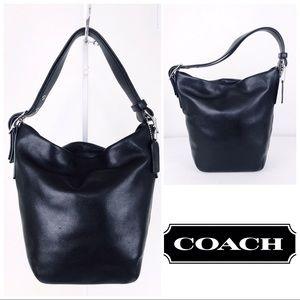 Coach Soho Black Leather Duffel Hobo Shoulder Bag